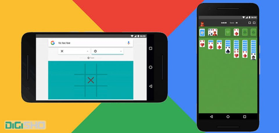 با جستوجو در گوگل مستقیما ایکس او (دوز) و سولیتر بازی کنید.