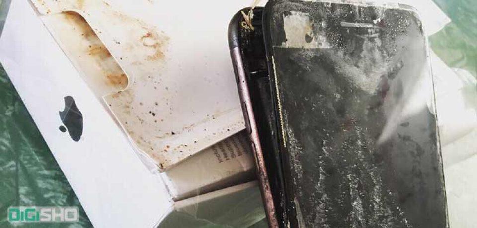 یک دستگاه آیفون ۷ منفجر شد! رقابتی تازه بین اپل وسامسونگ