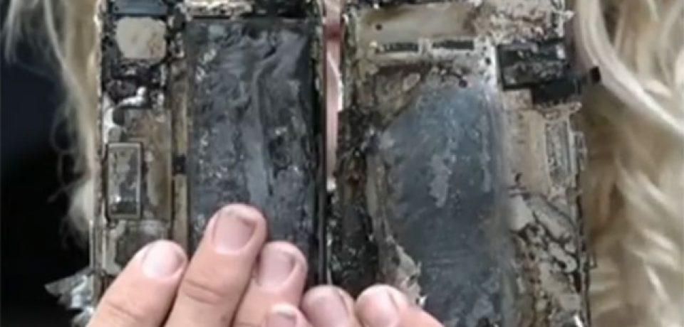 آتش گرفتن یک آیفون ۷، یک خودرو را به آتش کشید!