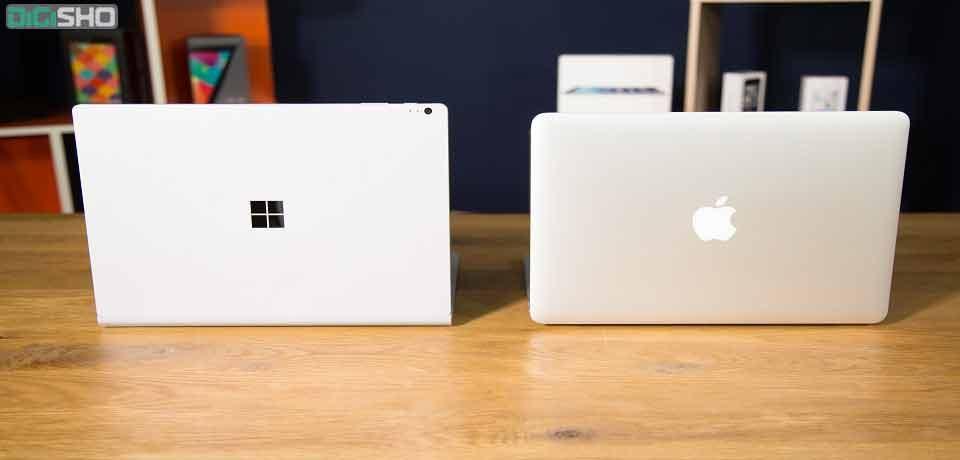 سرفیس بوک i7 در برابر مک بوک پرو؛ کدامیک بهترین لپتاپ است؟