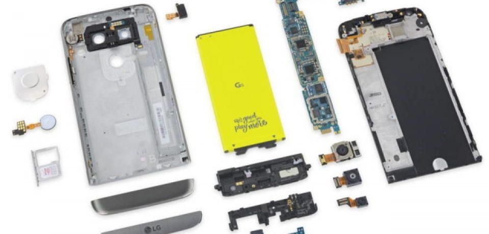 الجی جی ۵ به عنوان تعمیرپذیر ترین گوشی ۲۰۱۶ از نظر وبسایت iFixit انتخاب شد