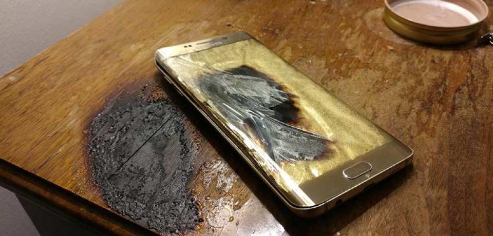 یک روز دیگر و یک انفجار گوشی دیگر؛ این بار گلکسی اس ۶ اج منفجر شد!